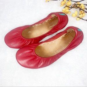 TIEKS   7 Cardinal Red Leather Flats